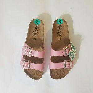 Birkenstock style slip on sandals new Cork footbed